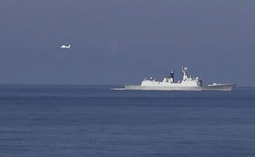 Tàu và máy bay Trung Quốc xâm phạm vùng đặc quyền kinh tế của Việt Nam. Ảnh: Vietnam+.