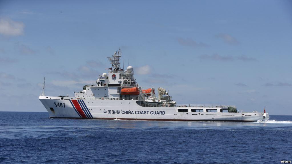 Một tàu tuần duyên của Trung Quốc tuần tra Biển Đông