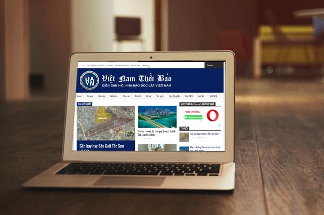 Giao diện trang Việt Nam Thời Báo