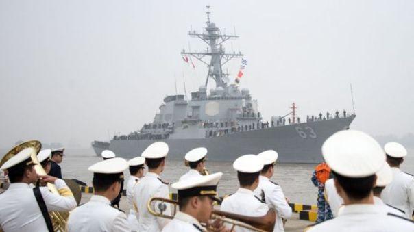 Tàu USS Stetham trong một lần ghé Thượng Hải hồi 2015