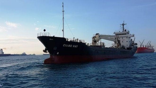 Các thuyền viên tàu Giang Hải bị bắt giữ từ tháng 2/2017