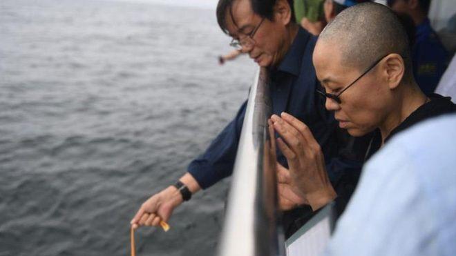 Tro cốt của Lưu Hiểu Ba được rải trên biển Hoàng Hải, gia đình ông cho hay