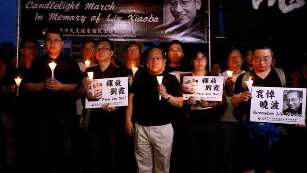 Các nhà hoạt động tại Hong Kong tưởng niệm Lưu Hiểu Ba
