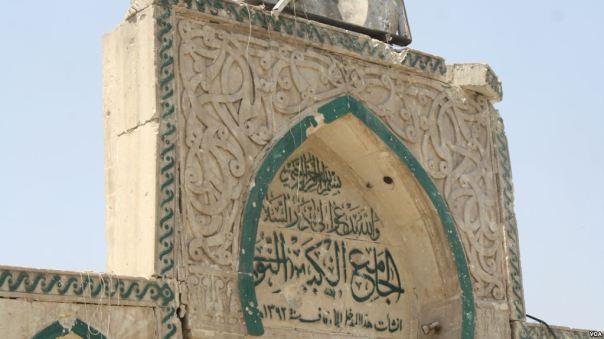 Đền cổ al-Nuri báu vật của Mosul bị Nhà nước Hồi giáo tàn phá. Ảnh chụp ngày 30/6/2017.