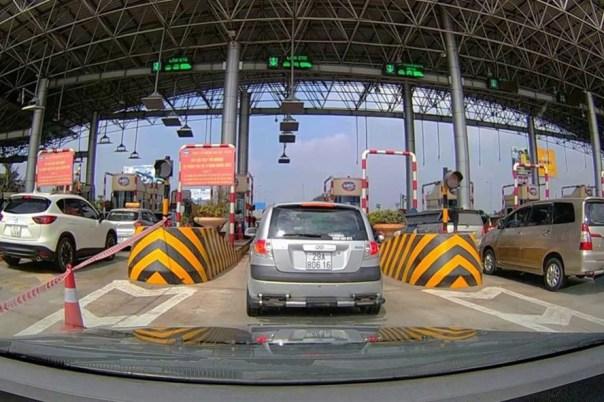 Trạm Thu phí Pháp Vân - Cầu Giẽ. Ảnh: A.C
