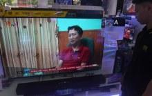 Hình ảnh ông Trịnh Xuân Thanh được đưa lên truyền hình Việt Nam, nói rằng ông đầu thú.